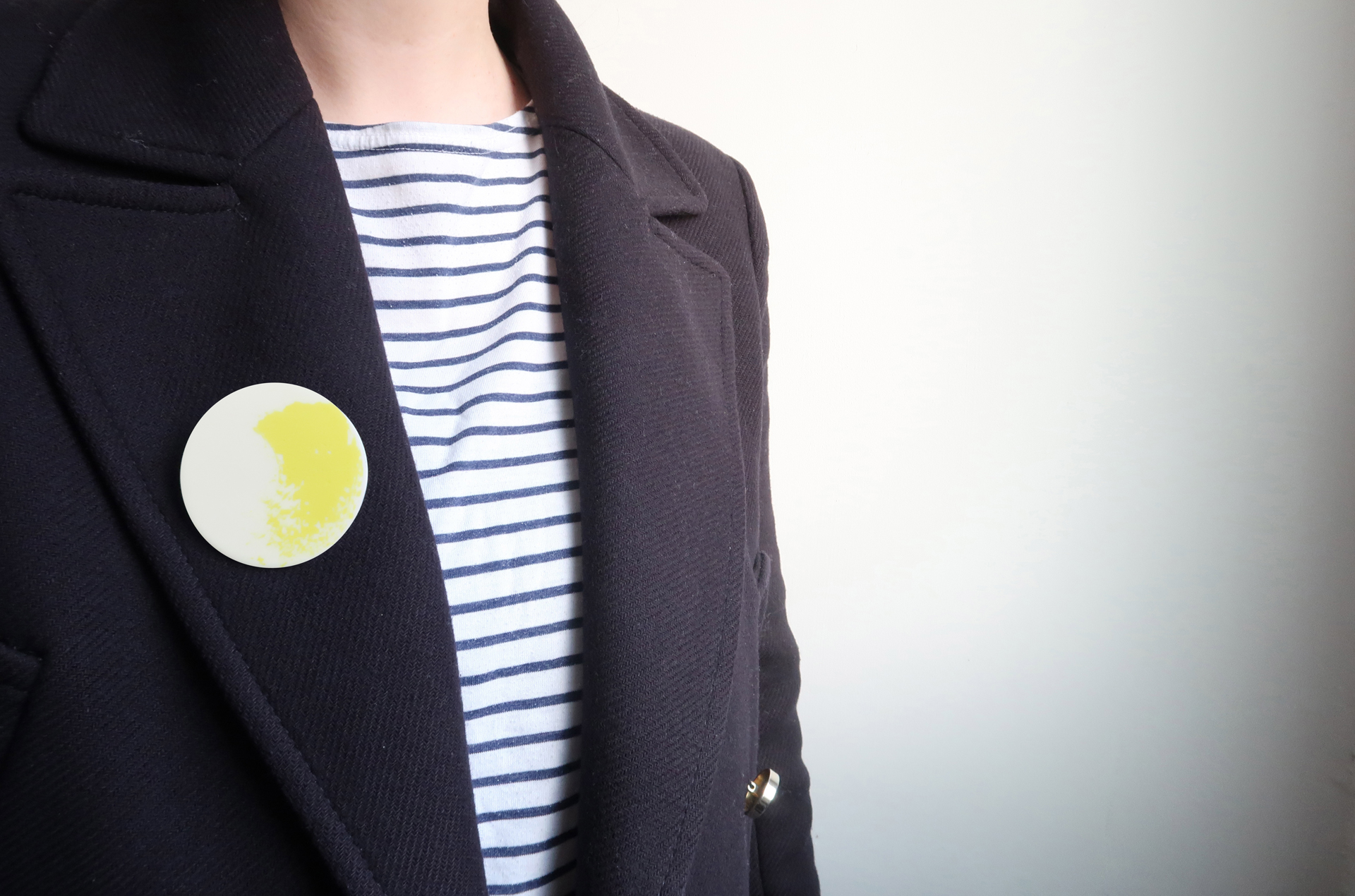 Yellow Brushstroke Brooch