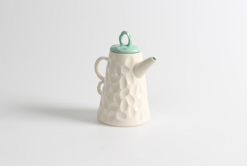Gavin Burnett Green Coffee Pot