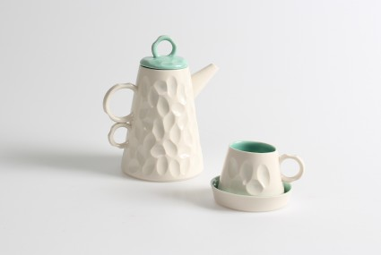 Gavin Burnett Green Coffee Pot