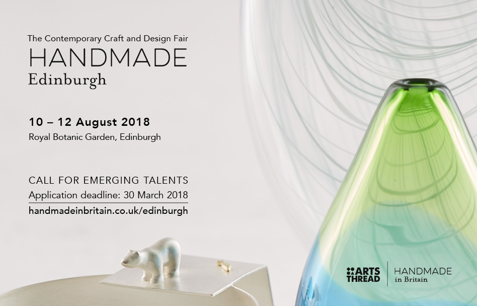 HANDMADE EDINBURGH 2018 - CALL FOR APPLICATIONS