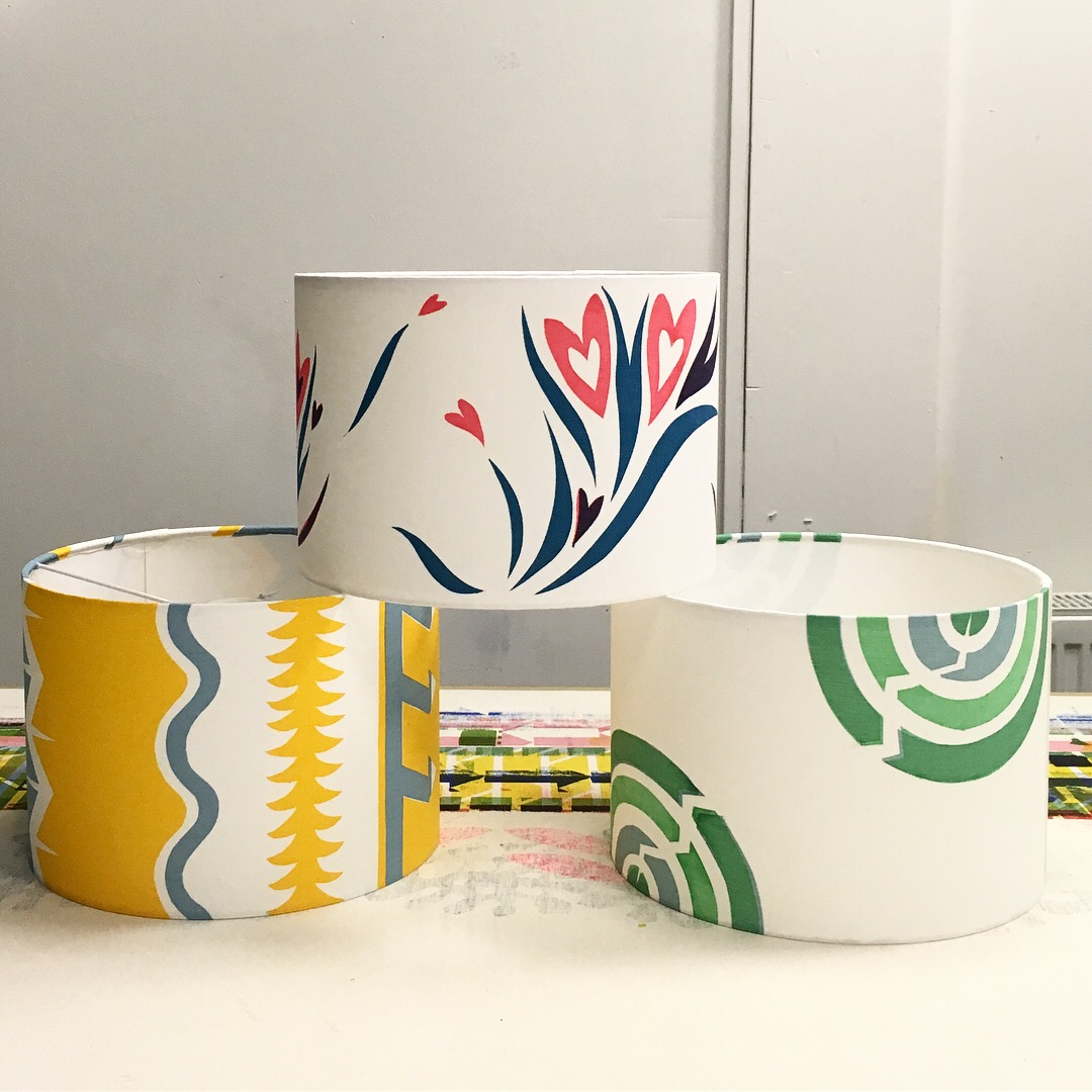 One-Day Lampshade Printing & Making Class with Laura Spring