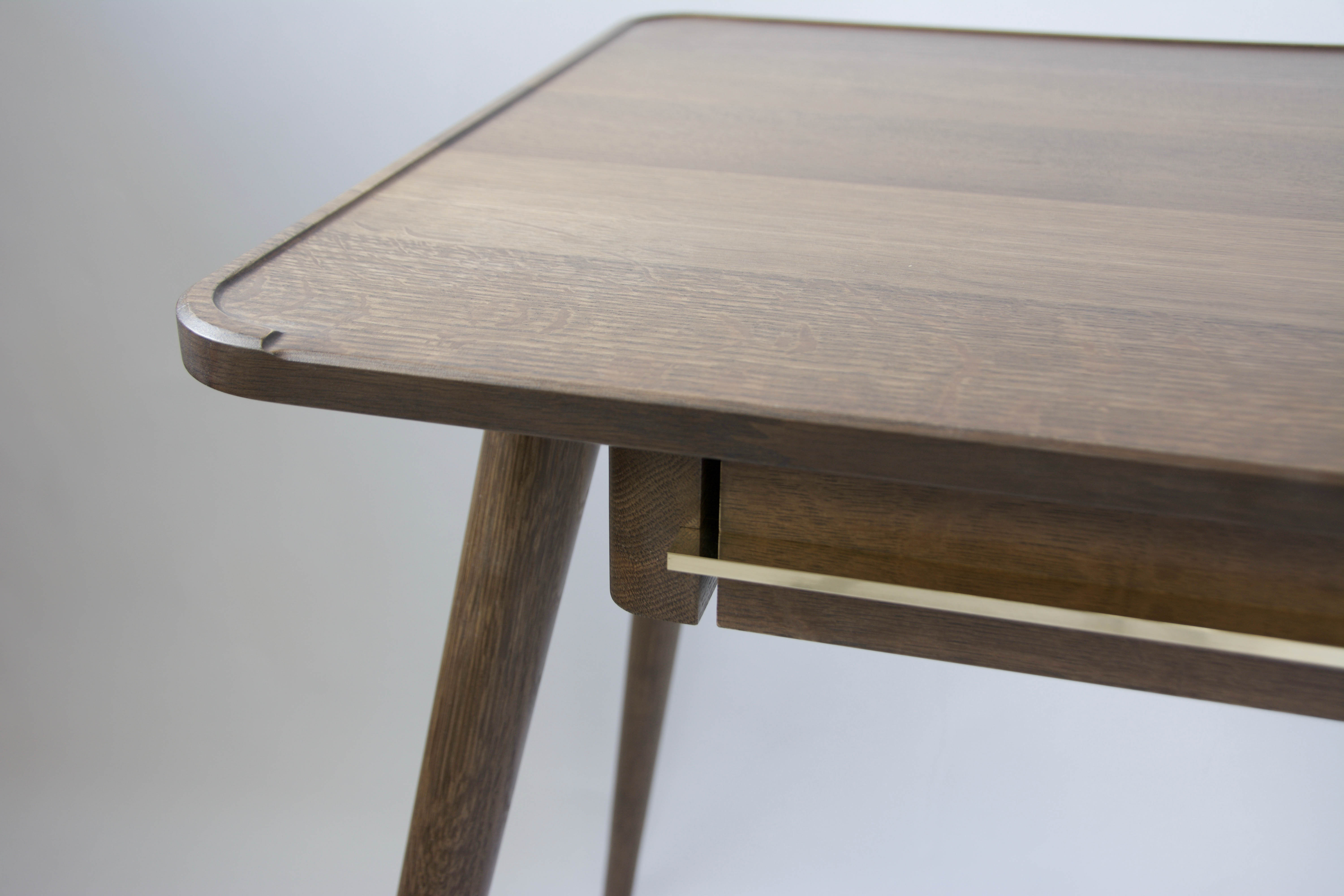 Fumed Oak Desk