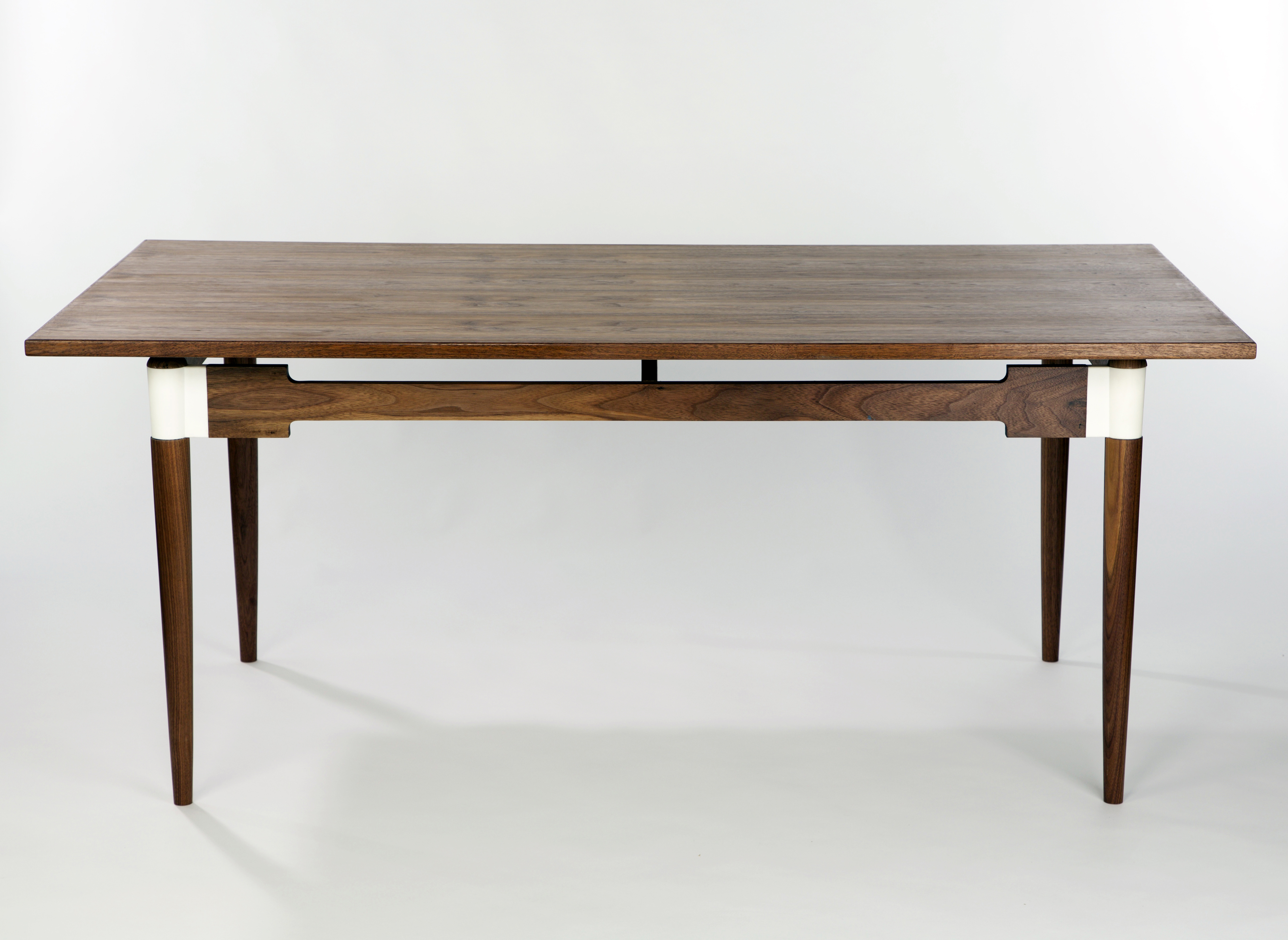 'Saul' table in 3D printed polyamide & walnut