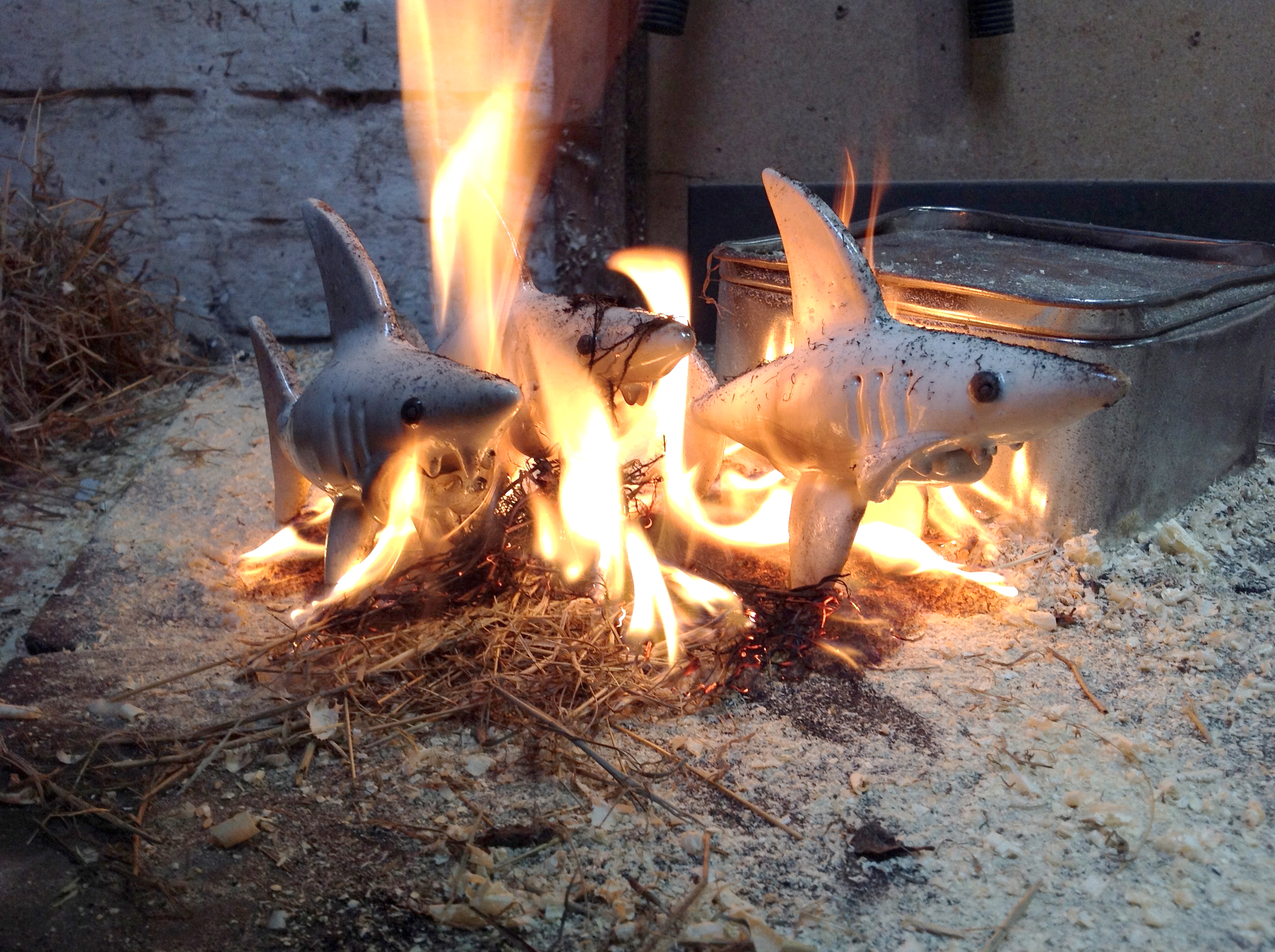 Raku Sharks by Ronnie Fulton/>               </div>               <div class=
