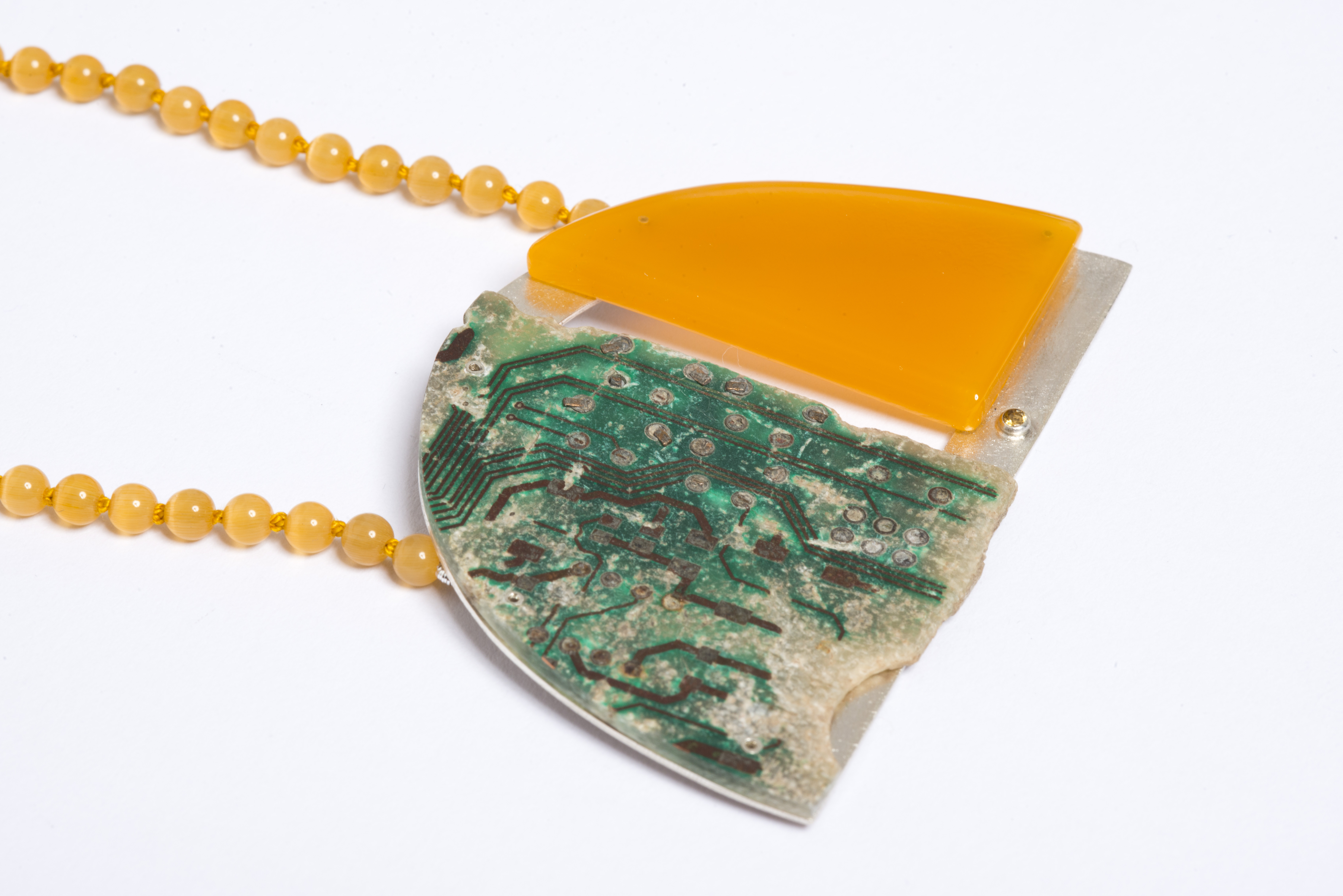 Worn Circuits Necklace (Found Collection, 2017)