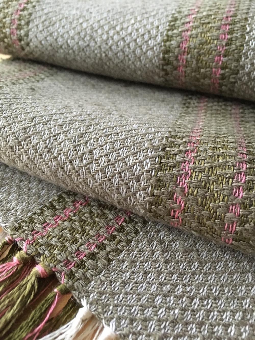 Twill stripes scarf
