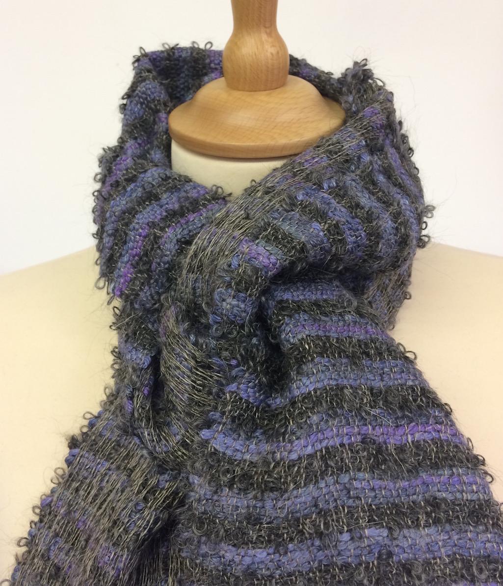 Mohair cord scarf