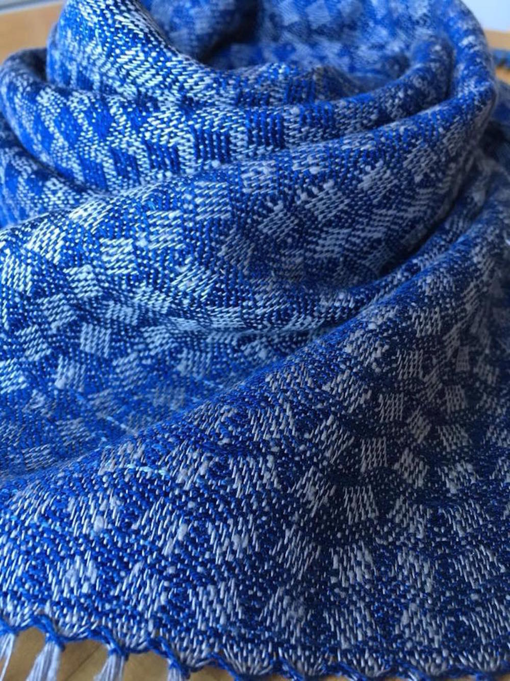 Tumbling blocks scarf