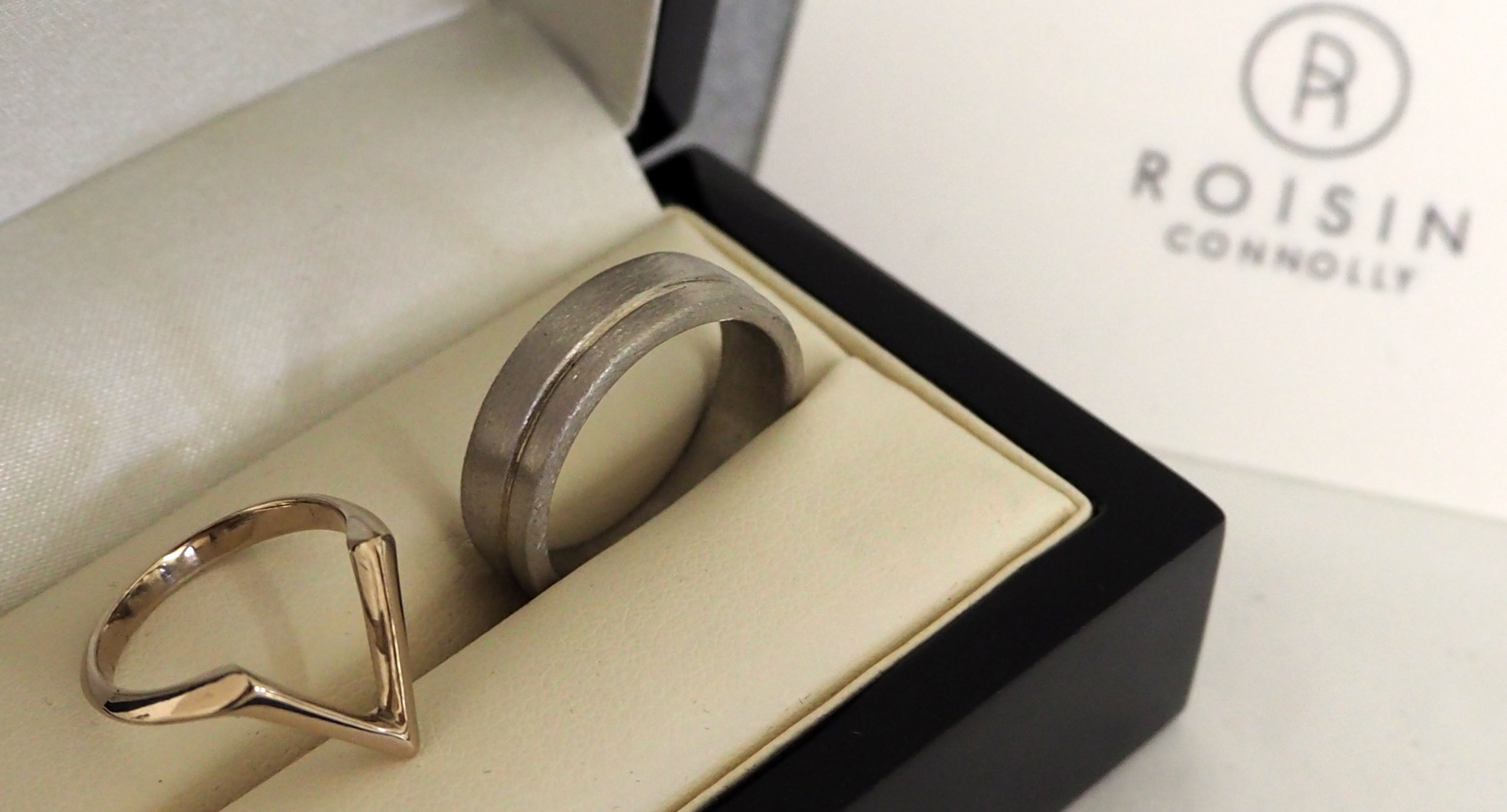 Bespoke Wedding Set, White Gold/Palladium