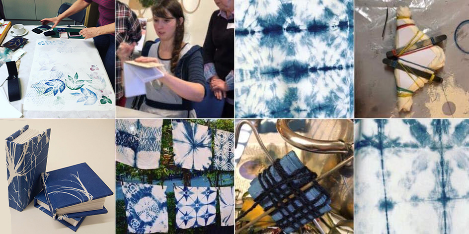 Tie, Dye and Stitch - Blue Indigo Bookbinding