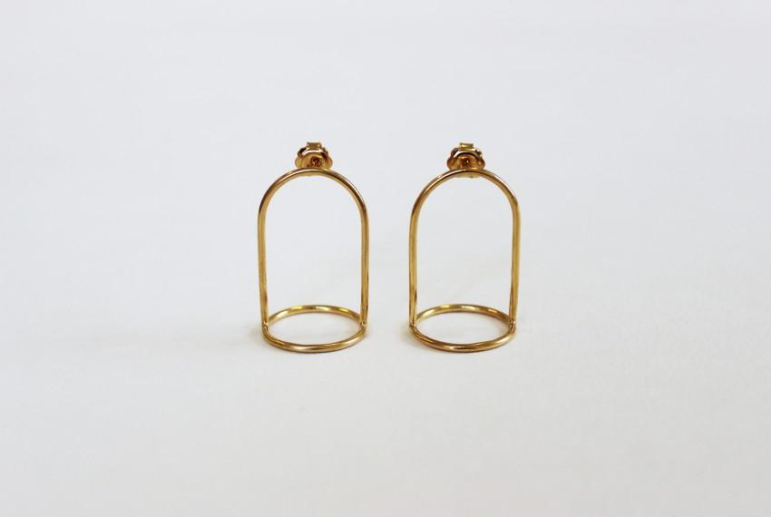 Ruth Leslie Bell Jar Earrings Gold