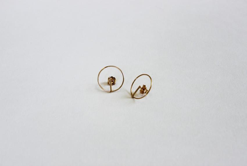 Ruth Leslie Circle Earrings Gold