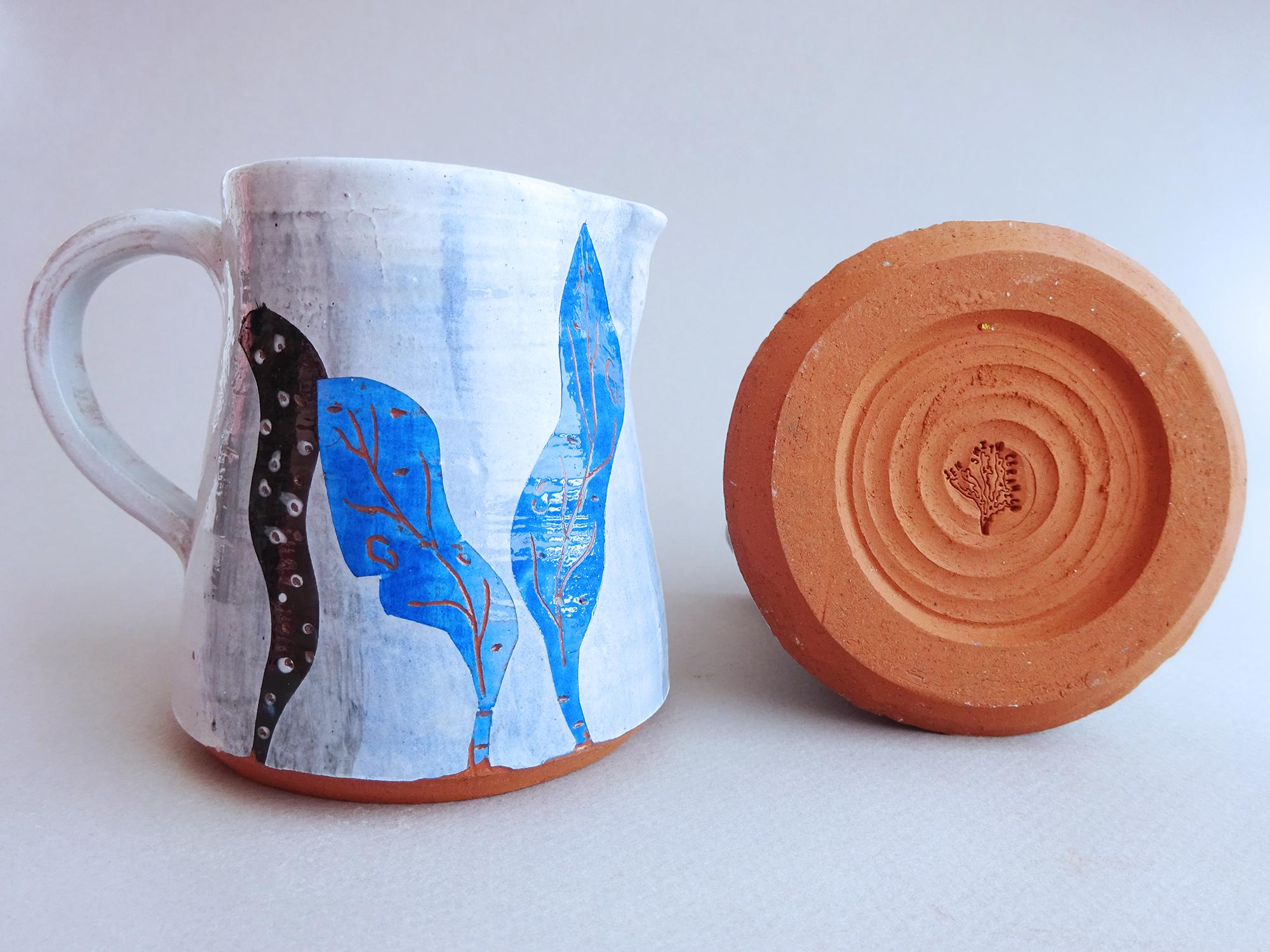 Seaweed Print Milk Jug