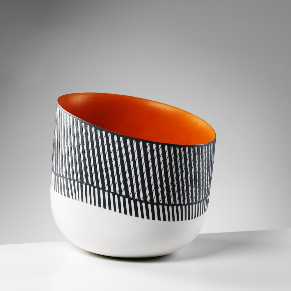 Bowl with Orange Interior