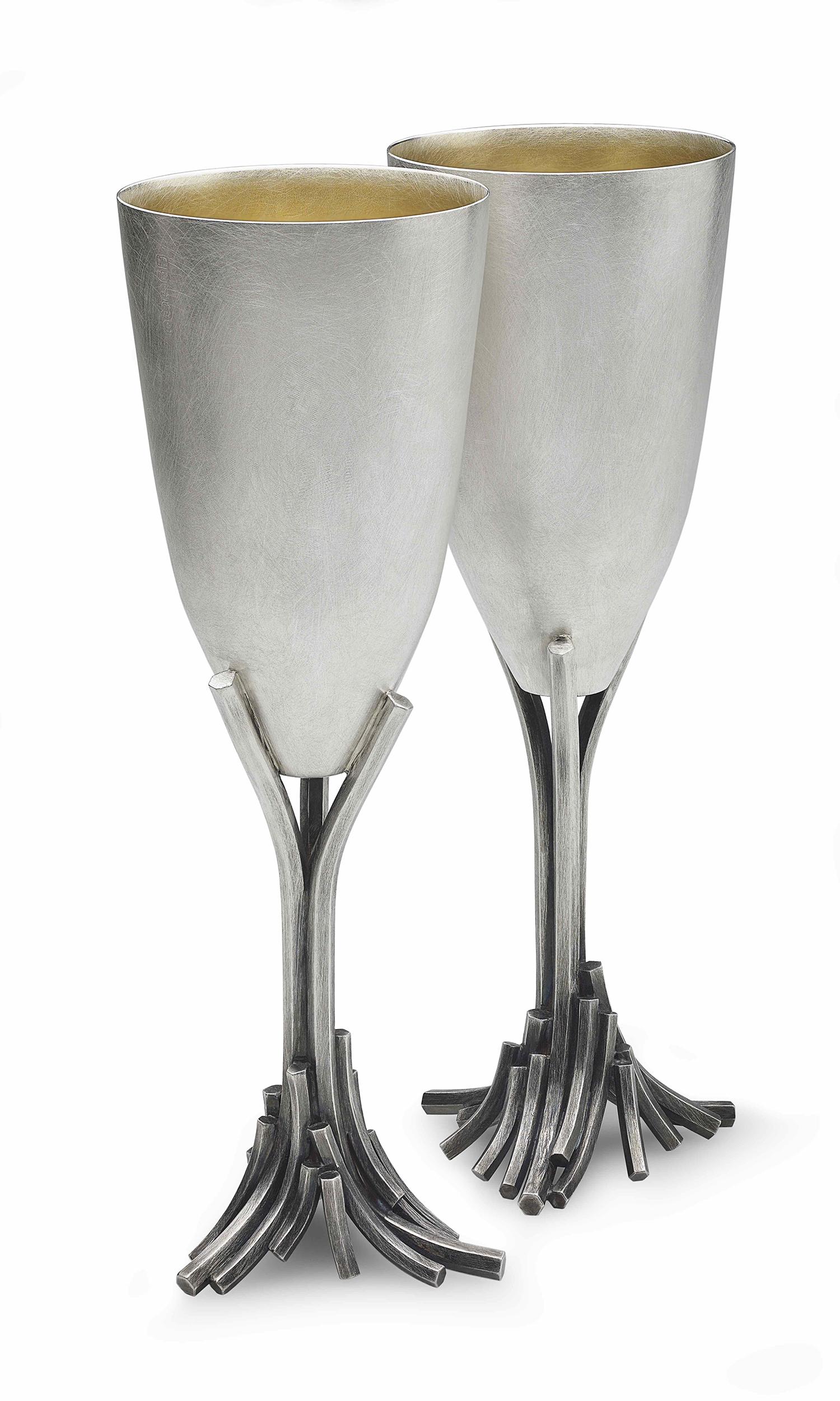 Cascade Champagne Flutes