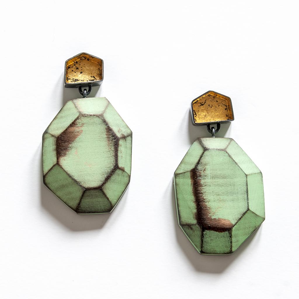 My Seoul green earrings