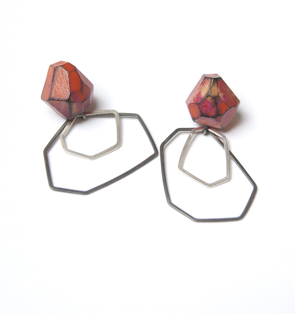 My Seoul orange and pink earrings
