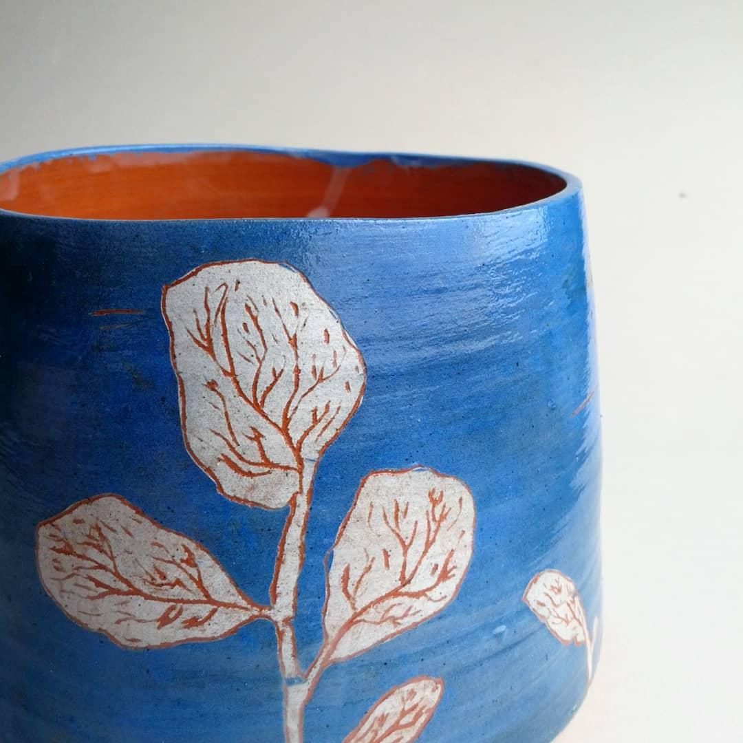 Deep Blue Botanical vase