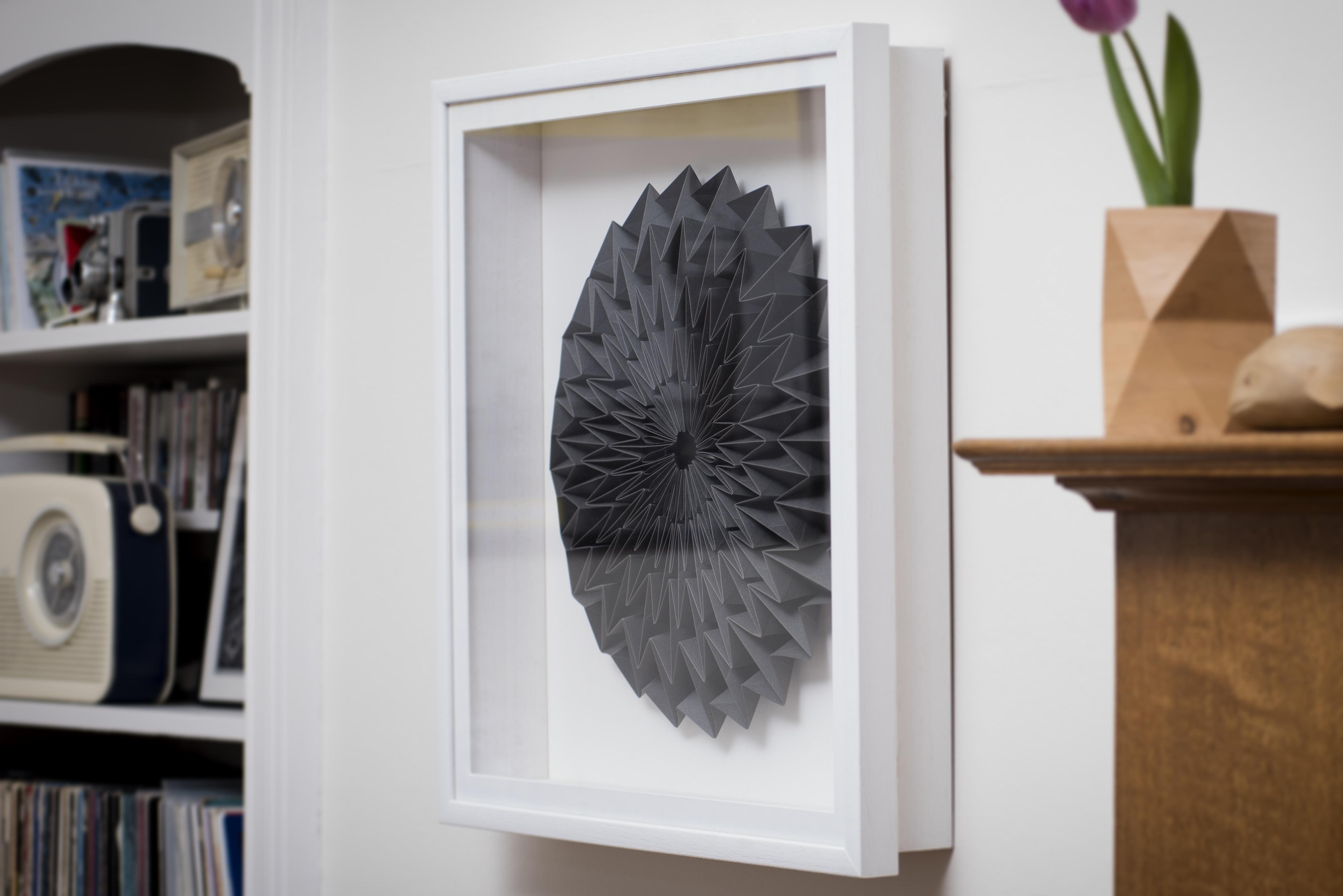 Framed Folded Artwork in Black