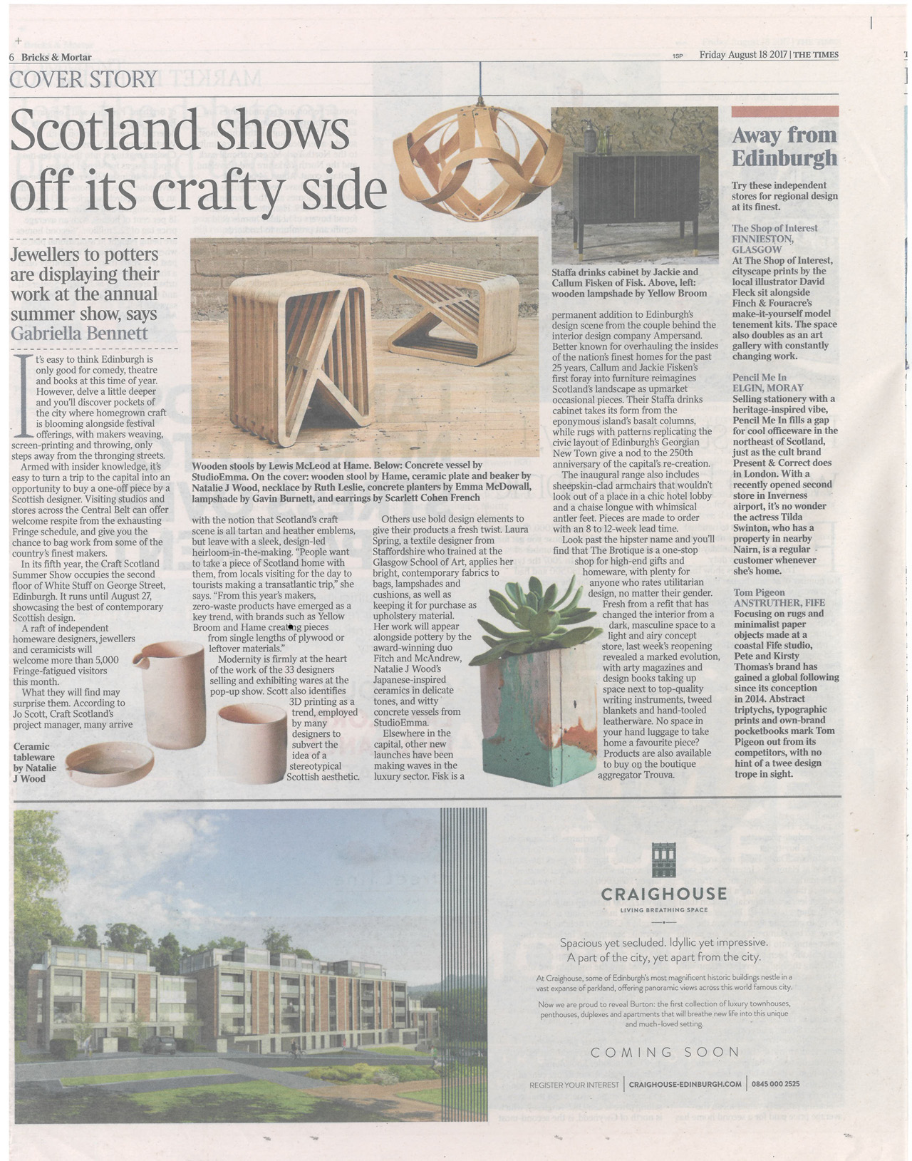 The Times: Craft Scotland Summer Show  - Susan Castillo
