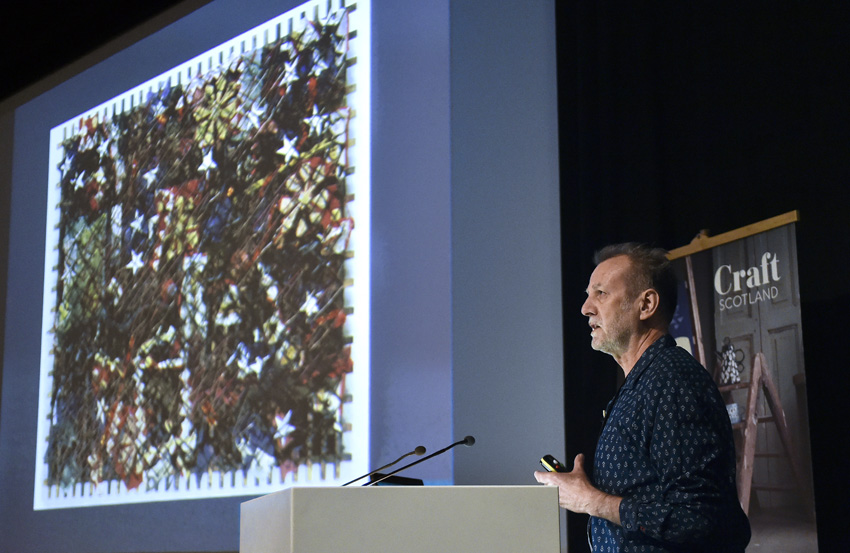 Michael Brennand Wood speaking at the Craft Scotland Conference 2018