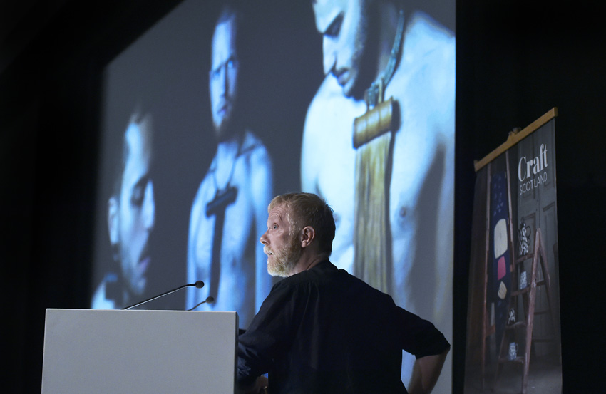 Lars Sture speaking at the Craft Scotland Conference 2018