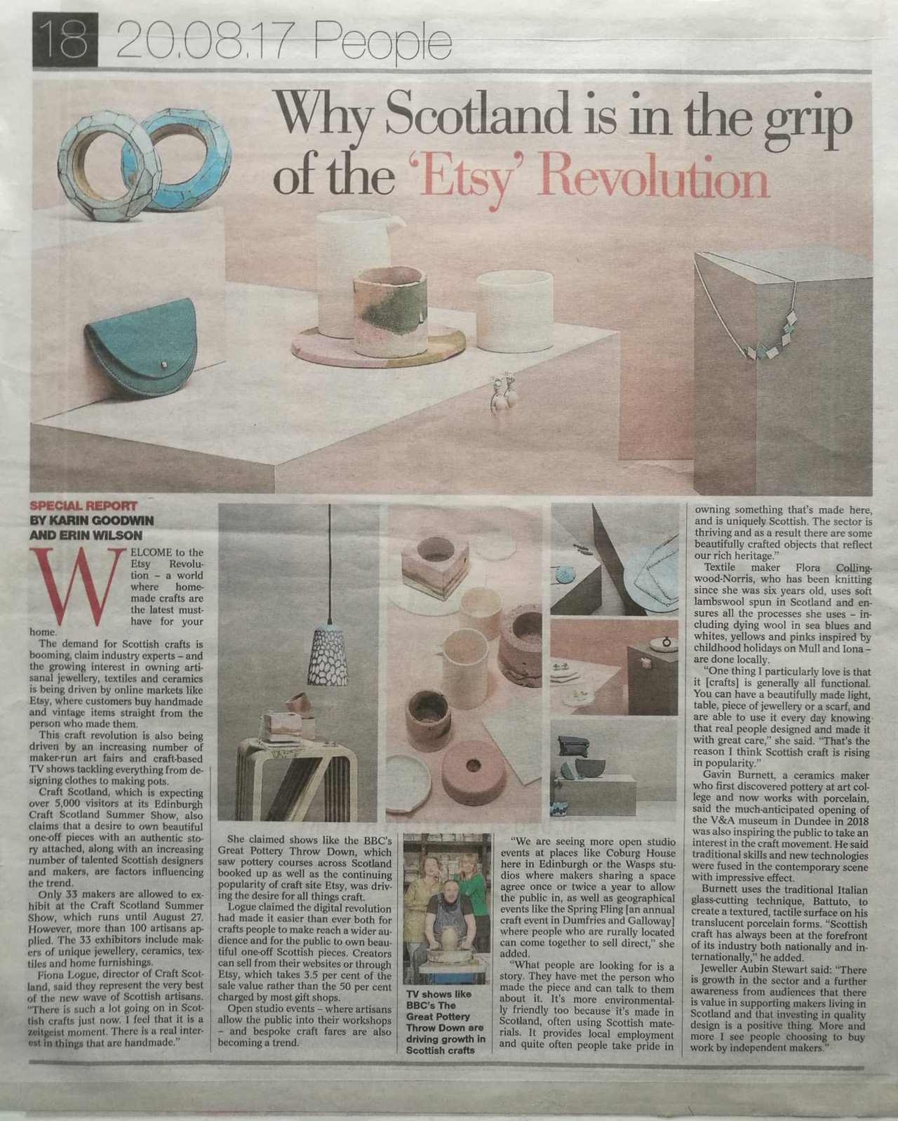 press media press clippings craft scotland