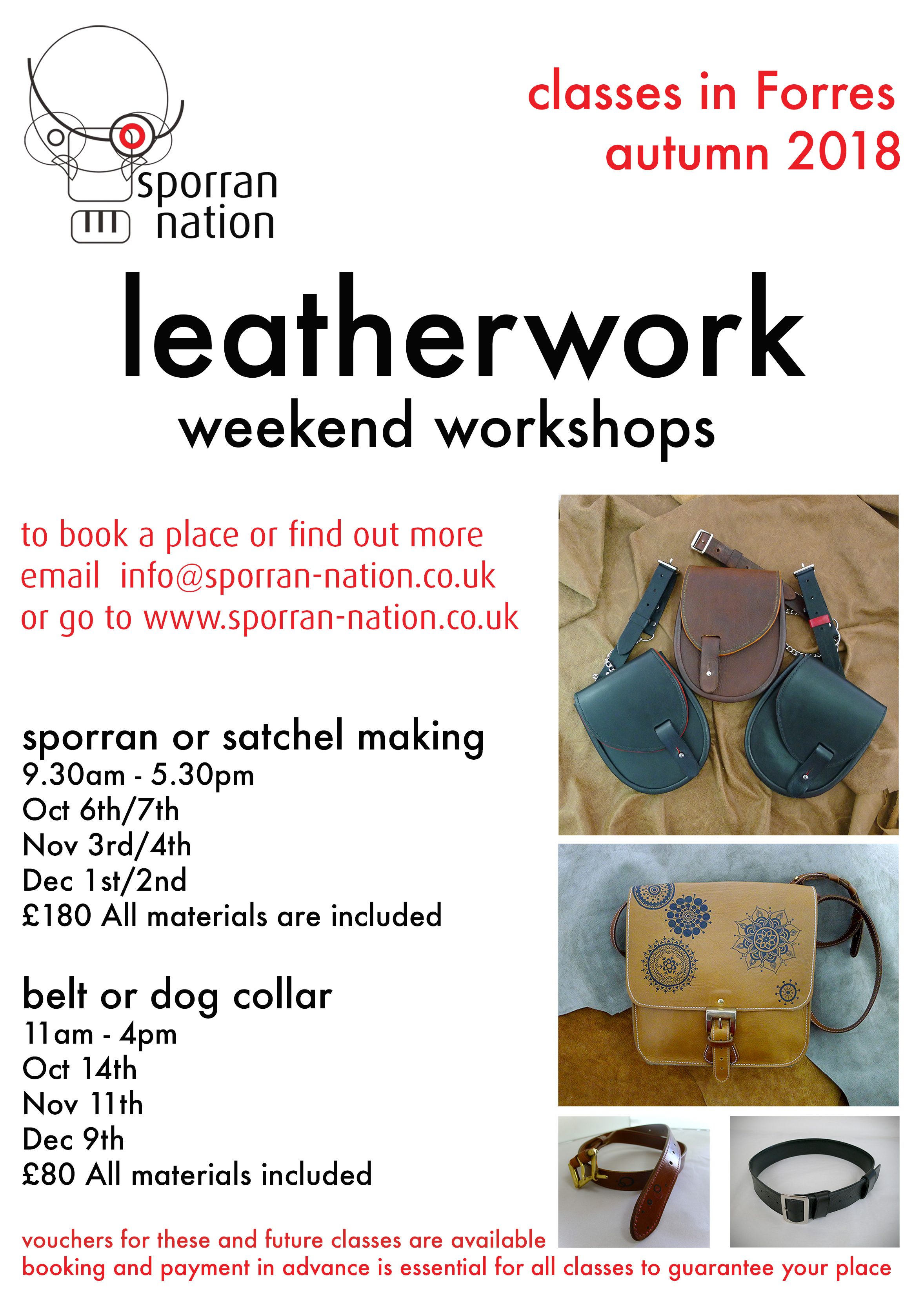 Leatherwork weekend workshop