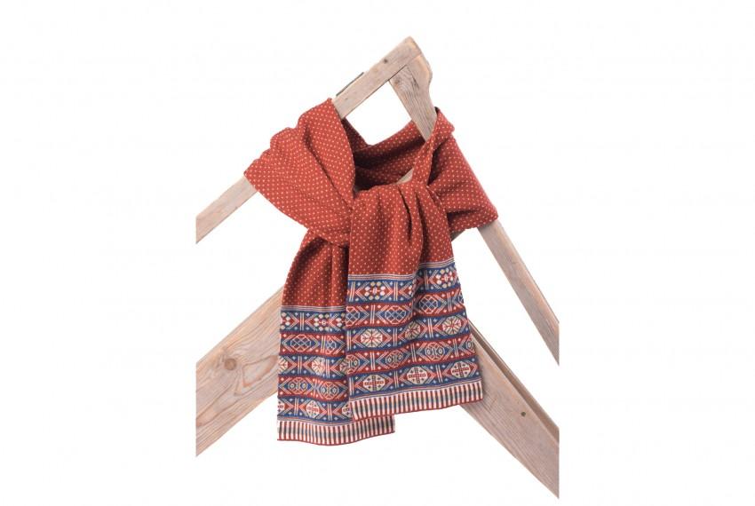 BAKKA Heritage Colour superfine merino wool scarf C903