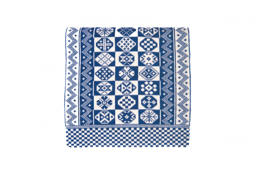 BAKKA Two Colour Scarf T888 in blue