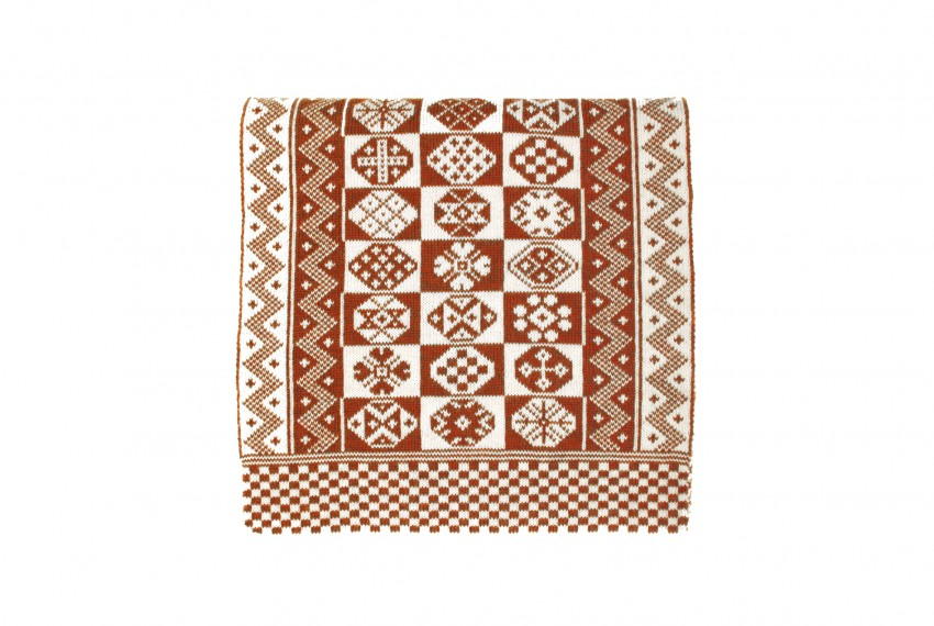 BAKKA Two Colour Scarf T888 in rust