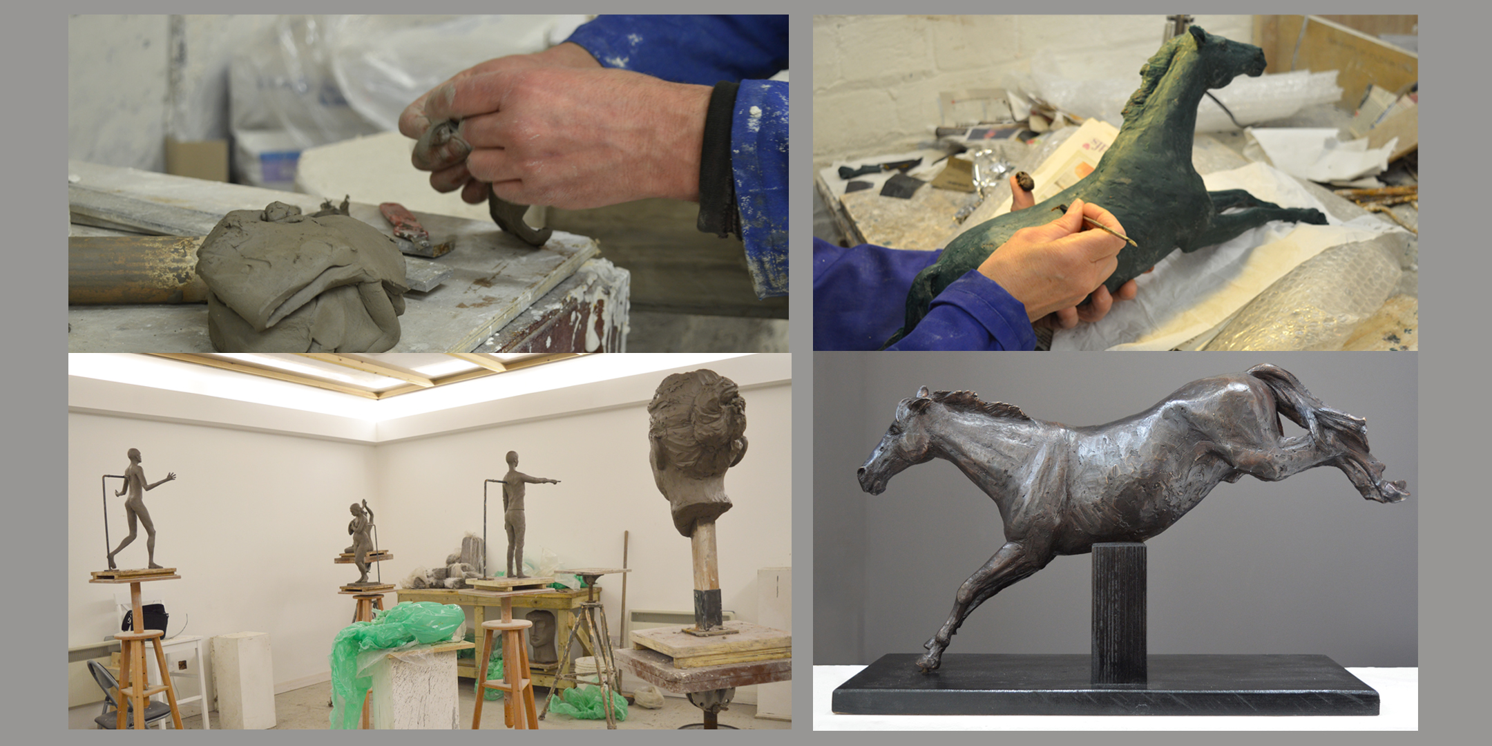 Clay modelling Evening Class with Sculptor Alan Beattie Herriot