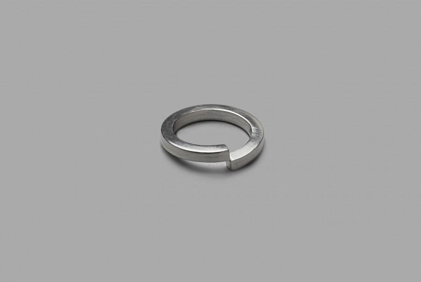 Akvile Su Split Ring in ecosilver