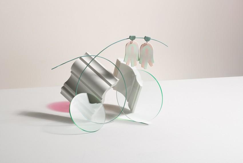 Kate Trouw Tassel Earrings Pink/Mint