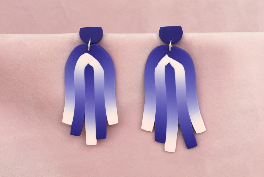 Kate Trouw Tassel Earrings Purple/Pink