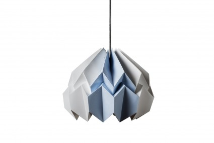 Kate Colin Lotus Shade in White & Azure Blue