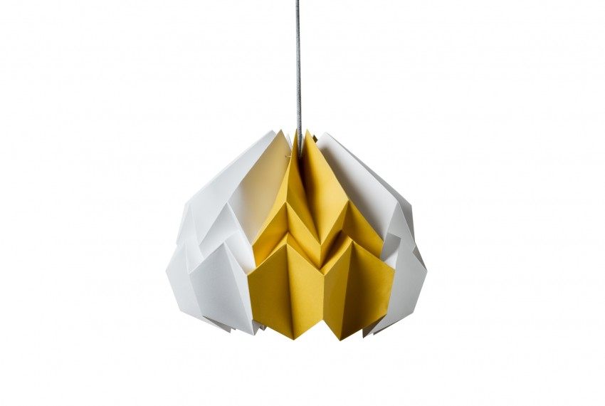Kate Colin Lotus Shade in White & Mustard Yellow