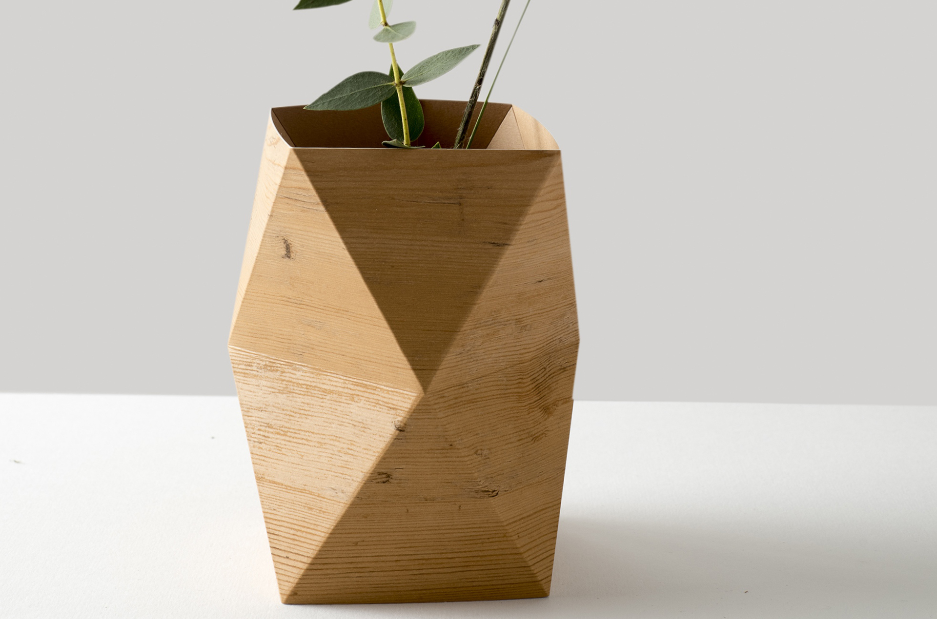 Folded 'wooden' Vase
