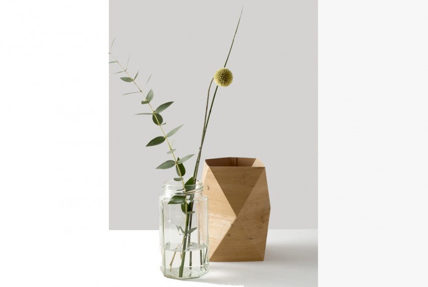 Kate Colin Folded 'wooden' vase