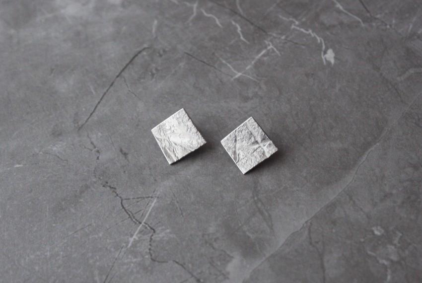 Rhona McCallum Neolith Earrings in Sterling Silver