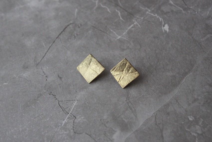 Rhona McCallum Neolith Earrings in Gold