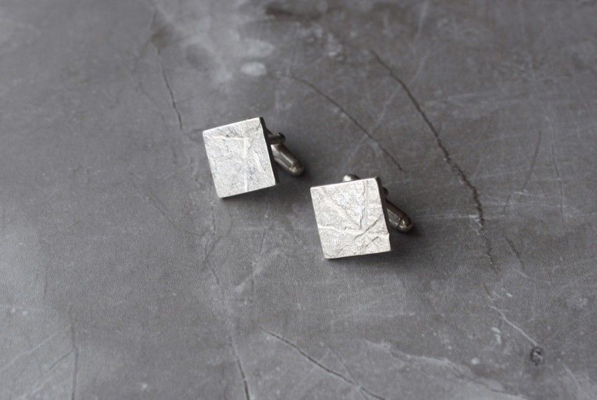 Rhona McCallum Neolith Cufflinks in Sterling Silver