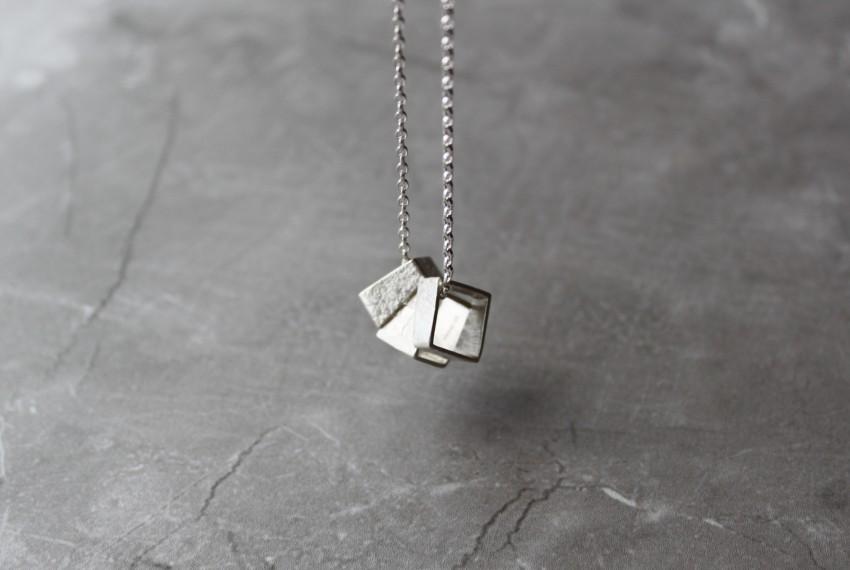 Rhona McCallum Fault Line Pendant in Sterling Silver
