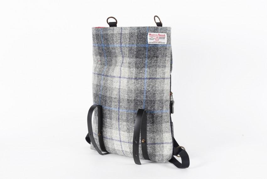 Catherine Aitken Hepburn Backpack in Grey Herringbone