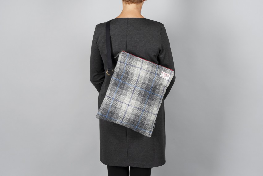 Catherine Aitken Explorer Bag in Grey Herringbone