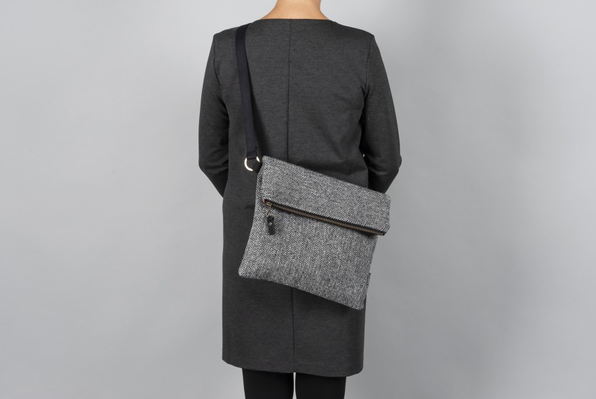 Catherine Aitken Explorer Bag in Grey Check