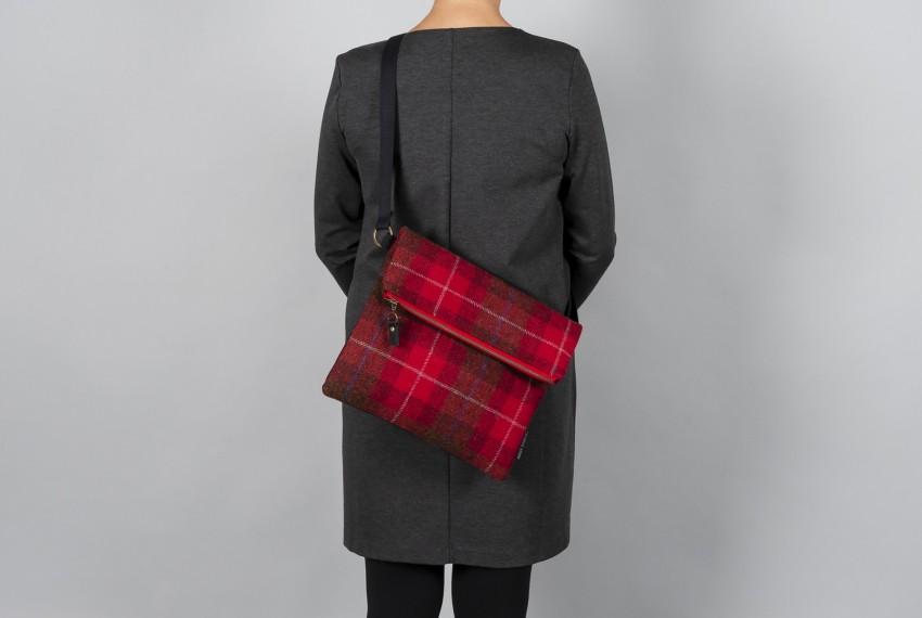 Catherine Aitken Explorer Bag in Red Check