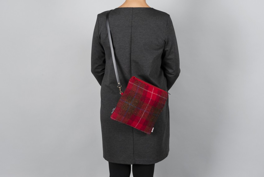 Catherine Aitken Voyager Messenger Red Check