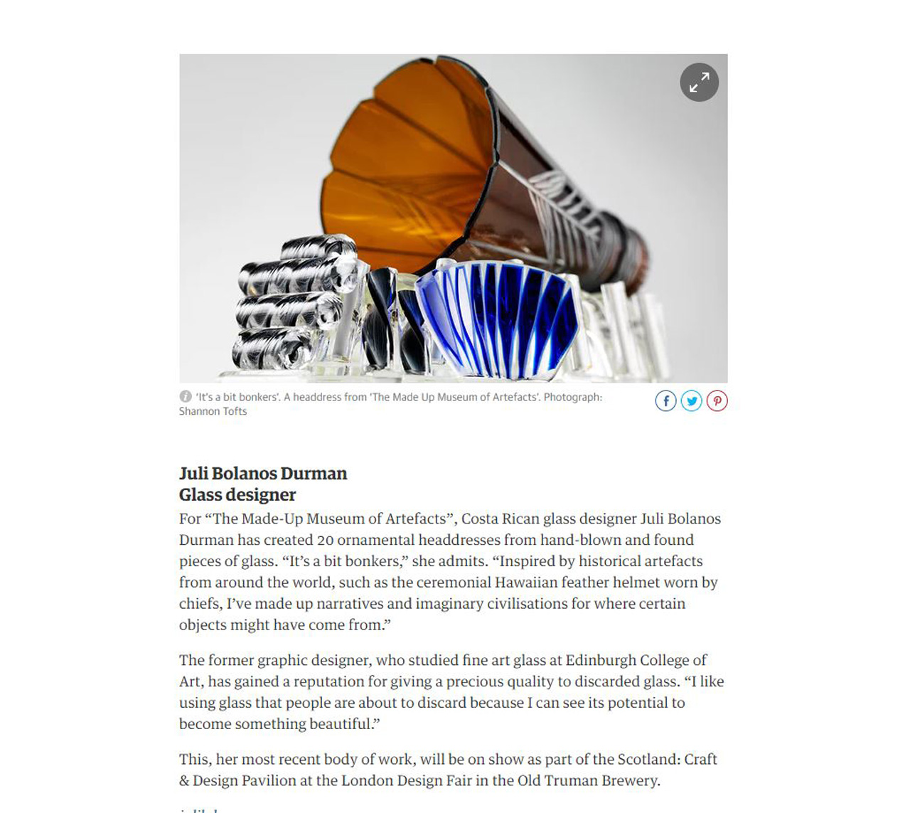 The Guardian: Scotland: Craft & Design - Shannon Tofts