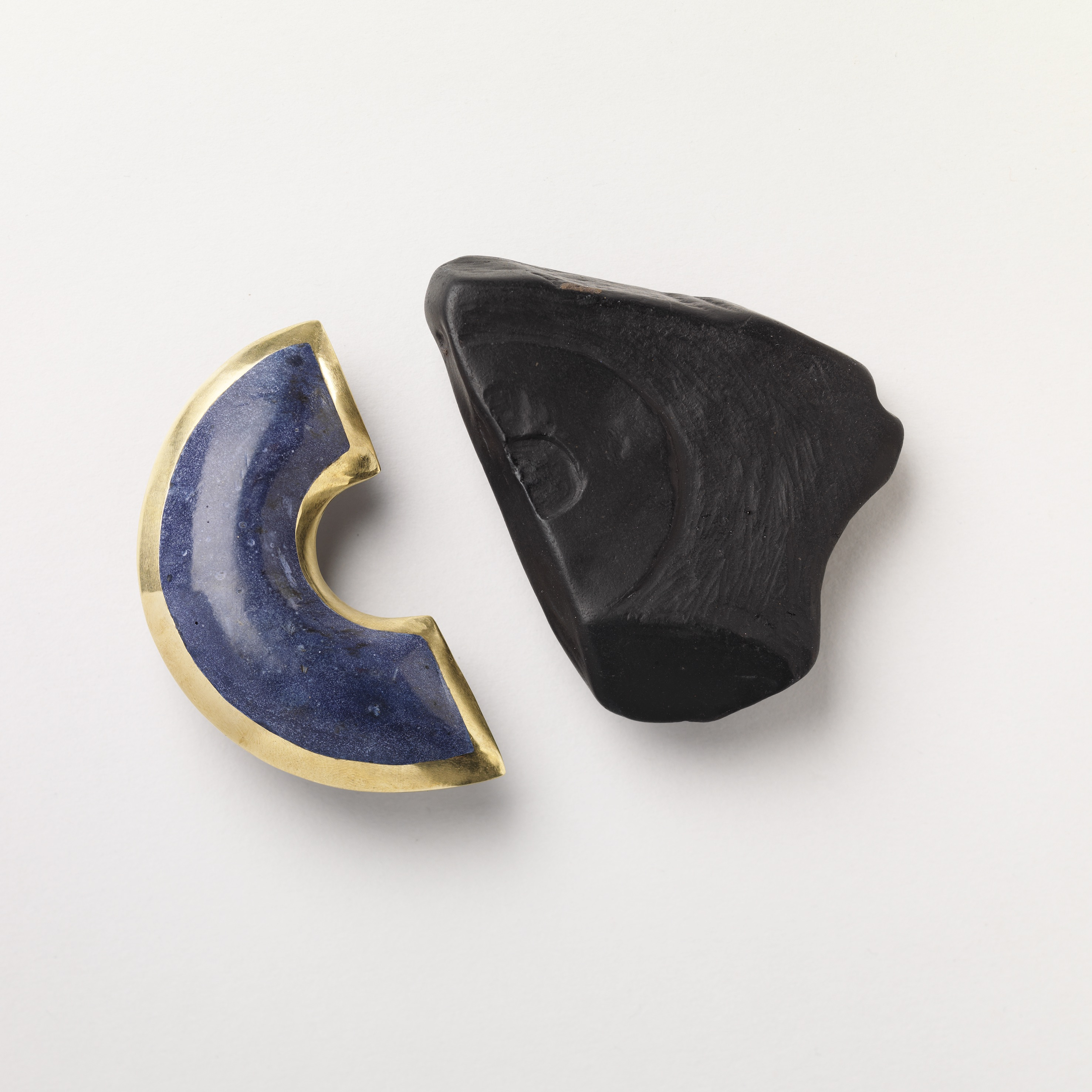Azure and Woad Brooches